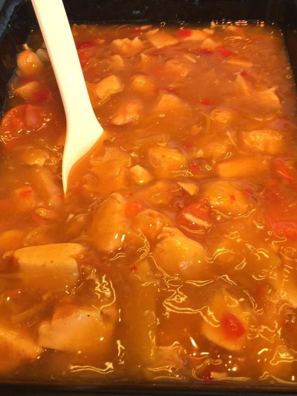 Kip in Chinese saus